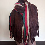 Объемный стильний теплий шарф, накидка, палантин, платок, фото 8