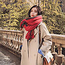 Объемный стильний теплий шарф, накидка, палантин, платок, фото 3