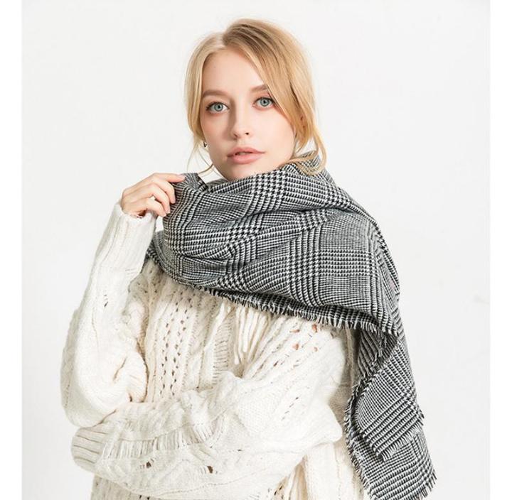 Стильний теплий шарф накидка палантин платок