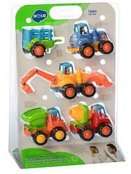 Набор машинок стройтехники Limo Toy 326 4 шт