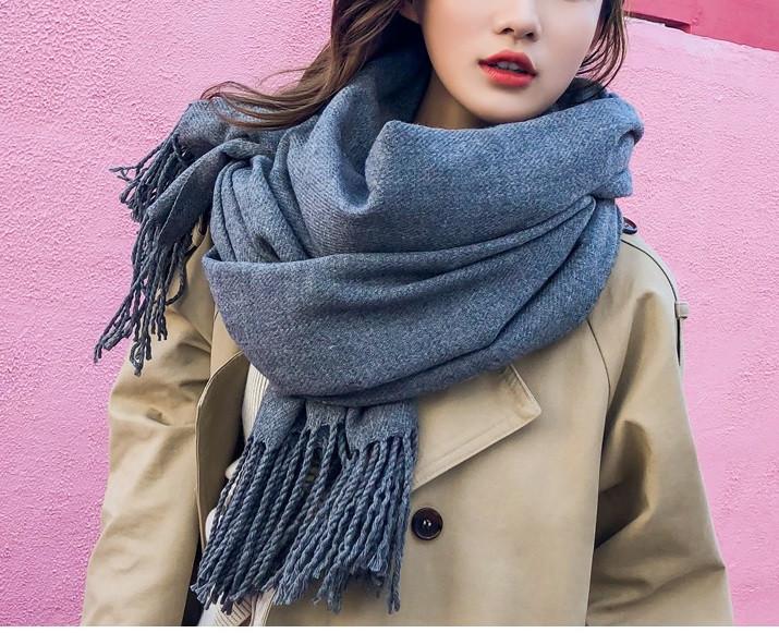 Стильний щільний шарф накидка палантин, платок