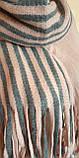 Стильний теплий шарф, накидка, палантин, платок, фото 6