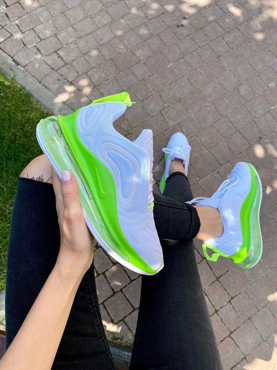 Кроссовки женские Nike Air Max 720, White/Green