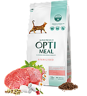 Сухой корм Optimeal Adult Sterilised Beef&Sorghum 4кг