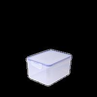 Контейнер для пищевых продуктов с зажимом прямоугольный 4 л (прозрачный)