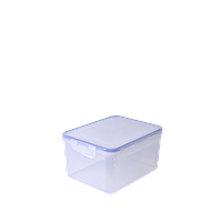 Контейнер для пищевых продуктов с зажимом прямоугольный 0,65 л (прозрачный)