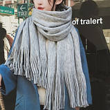 Стильний теплий шарф, накидка, палантин, платок, фото 2