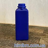 Пластиковая синяя канистра со шкалой 1 литр  Флакон с крышкой синий 1 литр