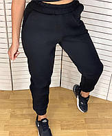 Штаны спортивные женские манжет на флисе (42-50) оптом купить от склада 7 км, фото 1