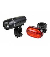 Комплект фонарей велосипедный Jing Yi JY-586-1+603Т-G