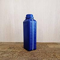 Синий пластиковый флакон. Канистра для промышленной химии, моторного масла