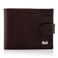 Мужской кошелек портмоне кожаный Desisan t087/2 темно-коричневый