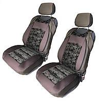 Чехлы-накидки на передние сиденья универсальные коричневые