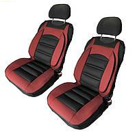 Чехлы-накидки на передние сиденья универсальные красно-черные