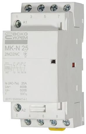 Модульний контактор MK-N 4P 25A 2NO+2NC 220V, фото 2