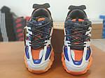 Мужские демисезонные кроссовки Balenciaga Track (бело-оранжевые) D34, фото 4