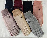 Перчатки женские сенсорные (внутри мех) (6,5-8,5) оптом купить от склада 7 км, фото 1