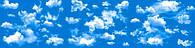 """3Д светящиеся обои """"Небо"""" 135/539см."""