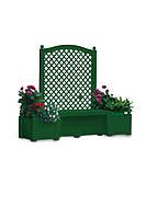 """Садовая лавка с кашпо HW-13 """"Лондон"""", зеленая (Уценка)"""