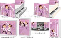 Кровать для девочки Затейница Дрема Стайл от 1400х700