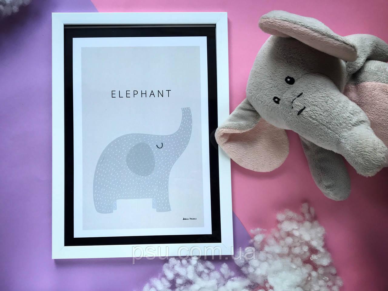 """Постер """"Elephant"""""""