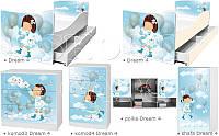 Кровать для девочки На облаках Дрема Стайл от 1400х700, фото 1