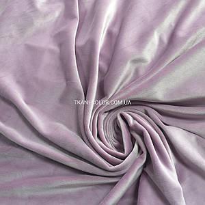 Ткань плюш велюр лиловый