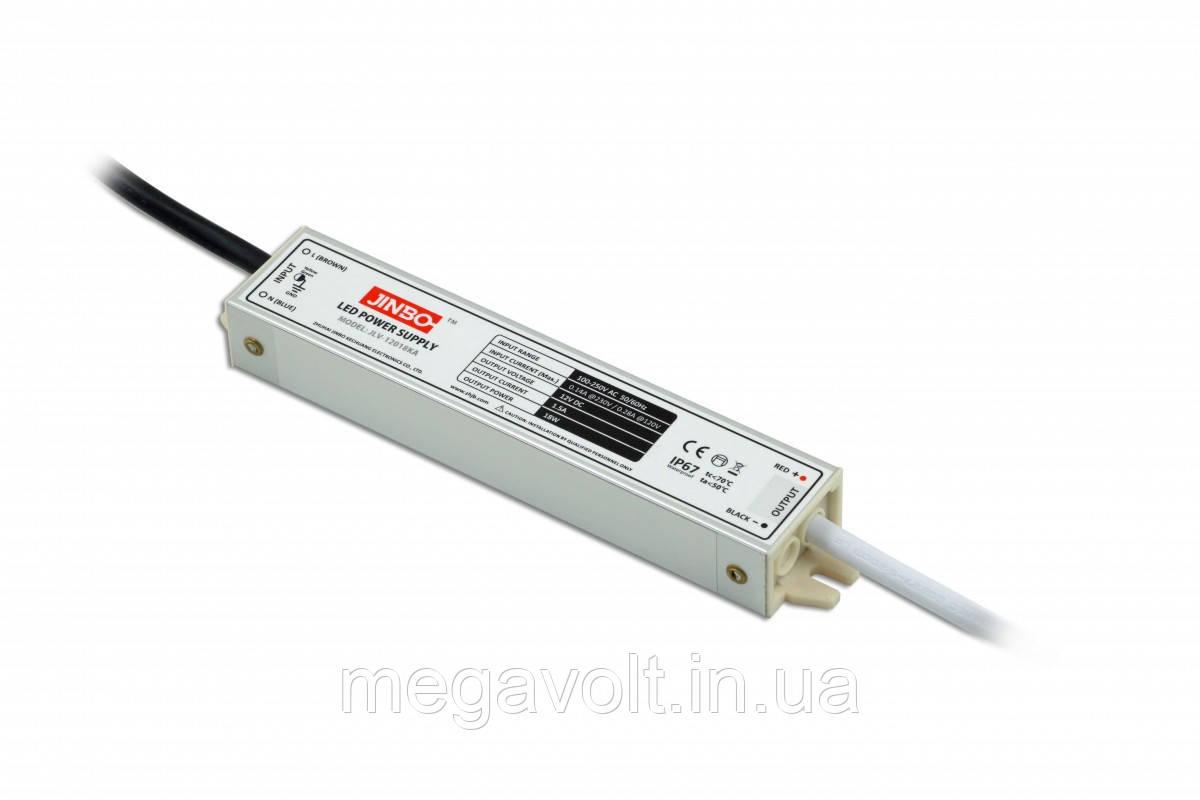Блок питания 18W 12V герметичный premium Jinbo