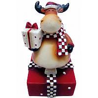 Новогодний сувенир Yes Fun Дед Мороз,Олень в ящ. микс: 2 вида 8см (520378)