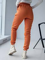 Теплі спортивні штани з трехнитки з начосом кориця