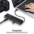 USB-C хаб 4-в-1 Promate LinkHub-C HDMI/2xUSB 3.0/SD/MicroSD Black, фото 5