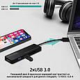 USB-C хаб 4-в-1 Promate LinkHub-C HDMI/2xUSB 3.0/SD/MicroSD Black, фото 4