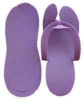 Тапочки в'єтнамки одноразові, Фіолетові (25 пар/уп)