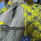 Зимний теплый костюм для девочки. В комплект входит термокуртка и штаны полукомбинезон на отстежных подтяжках, фото 2
