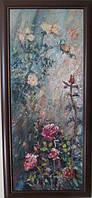 Картина цветы «Розы в саду» (купить картину для дома, декорирование дома)