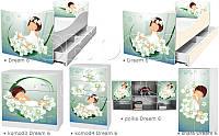 Кровать для девочки Альпийский сон Дрема Стайл от 1400х700