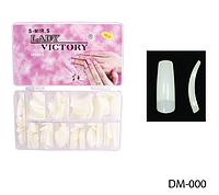 Матовые типсы для ногтей «американка» (500 шт.) Lady Victory LDV DM-000 /8-2