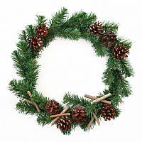 Декоративний вінок Yes Fun Різдвяна ніч з прикрасою d--40см (904204)