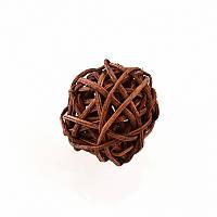 Елочное украшение шар Yes Fun ротанговый d-3см коричневый (973316)