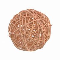 Елочное украшение шар Yes Fun ротанговый d-10см натуральный (973342)