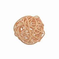 Елочное украшение шар Yes Fun ротанговый d-5см натуральный (973340)
