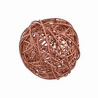 Елочное украшение шар Yes Fun ротанговый d-10см медный (973332)