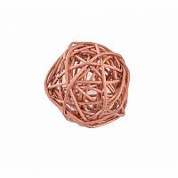 Елочное украшение шар Yes Fun ротанговый d-5см медный (973330)