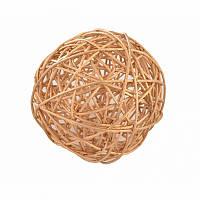 Ялинкова прикраса куля Yes Fun ротанговий d-10см золотий (973326)