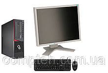 Комплект системный блок Fujitsu Esprimo E720 SFF + Монитор EIZO FlexScan S1901 + Клавиатура + мышь