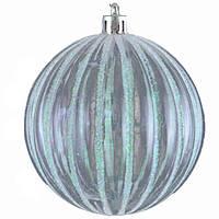 Елочное украшение шар Yes Fun Cнежный барс d-8см прозрачный (972888)