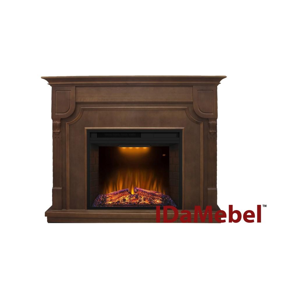 Угловой и фронтальный камин IDaMebel Barcelona Goodfire 23 технология LED мерцающих дров со звуком