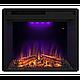 Угловой и фронтальный камин IDaMebel Barcelona Goodfire 23 технология LED мерцающих дров со звуком, фото 5