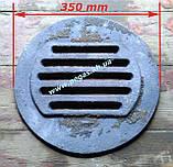 Колосник чугунный круглый печи, буржуйка, титан, тандыр, мангал 350 мм, фото 3