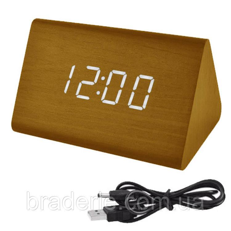 Часы электронные сетевые USB VST 864-6 Белое свечение